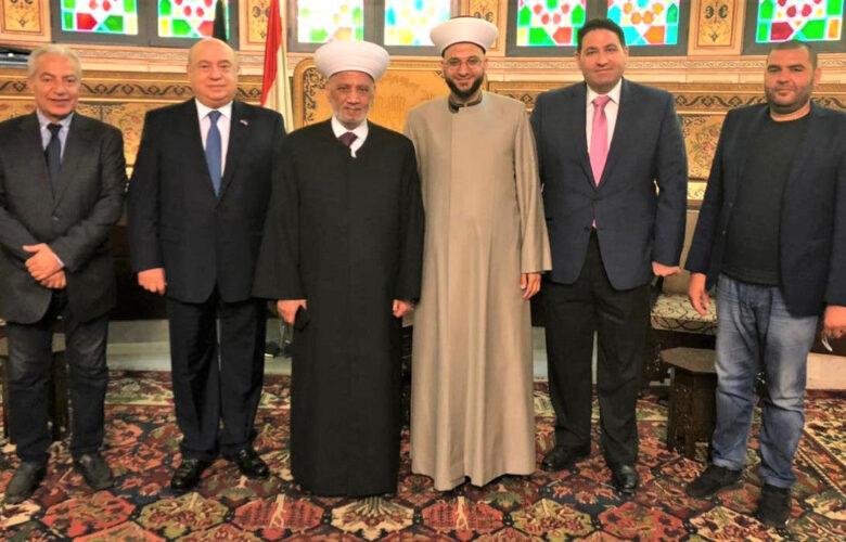 سماحة المفتي يستقبل رئيس وأعضاء هيئة الإغاثة والمساعدات الإنسانية التابعة لدار الفتوى