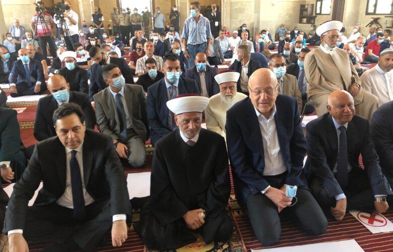 خطبة الجمعة لسماحة المفتي بعد افتتاح مسجد محمد البساتنة في مستديرة شاتيلا-بيروت
